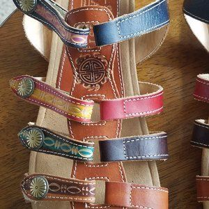 Multi Colored L'Artiste Gypsy Sandals